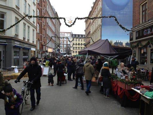Julemarked på Værnedamsvej. Billede lånt fra yelp.dk