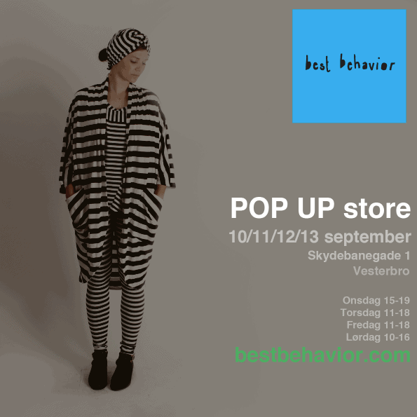 Best Behavior Pop-up shop