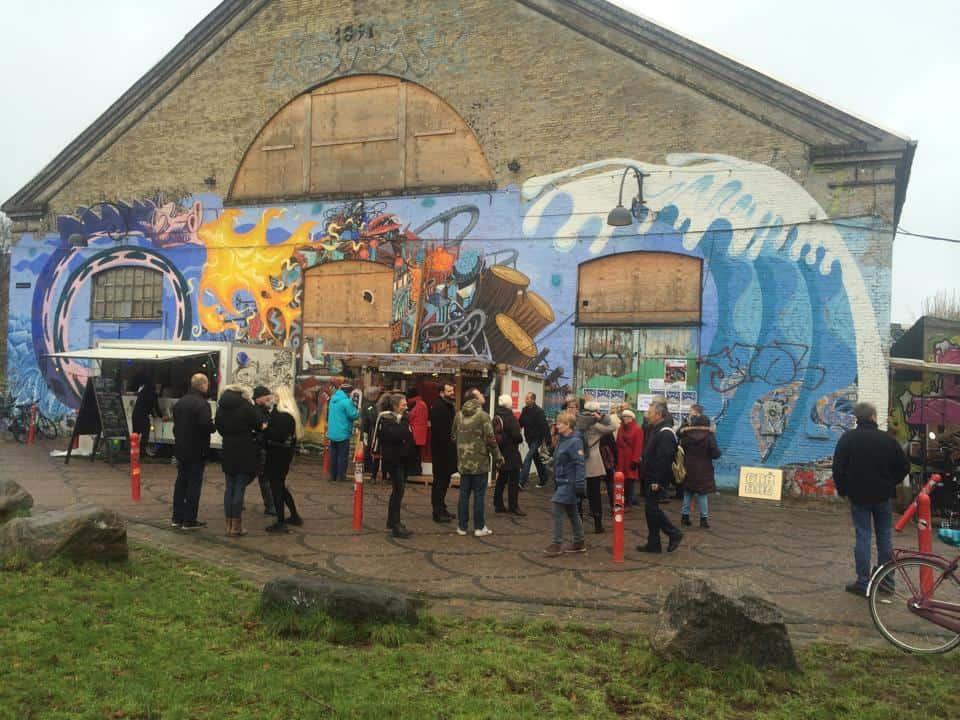 Christianias indgang - grå hal og julemarked