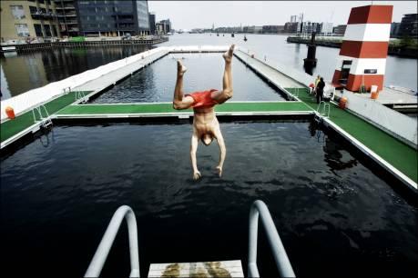 Havnebadet ved fisketorvet er lækkert om sommeren i København
