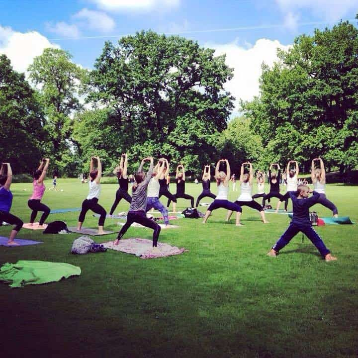 yoga i det fri gratis