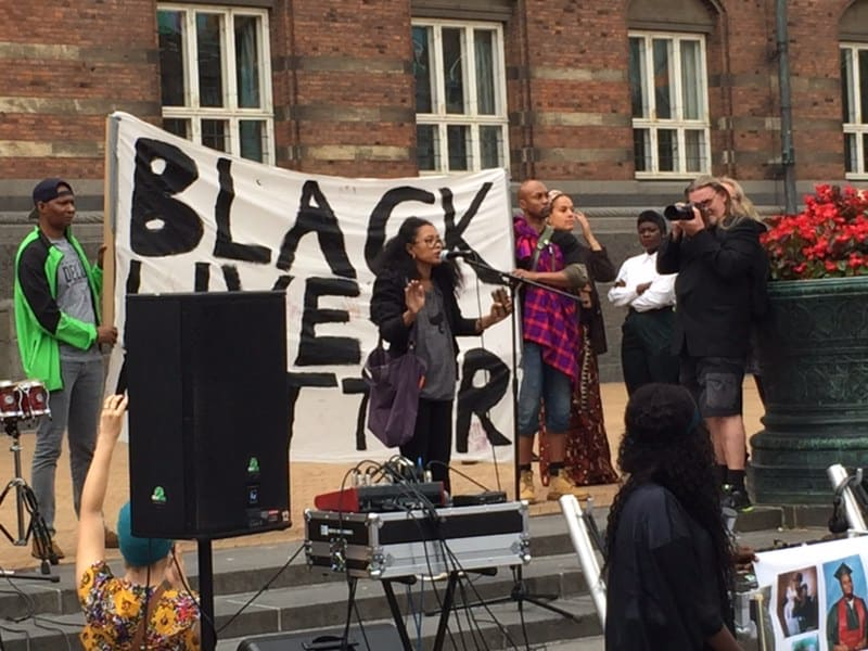 black lives matter demo juli 2016- Lesley- Ann Brown speech
