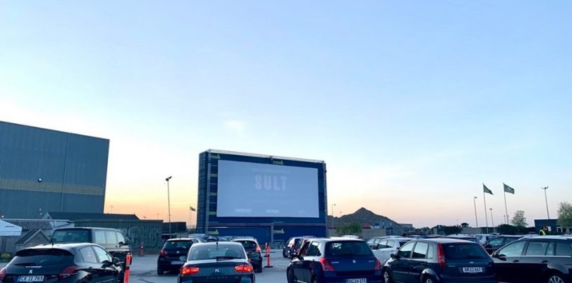 Pop-up drive-in bio i Nordhavn